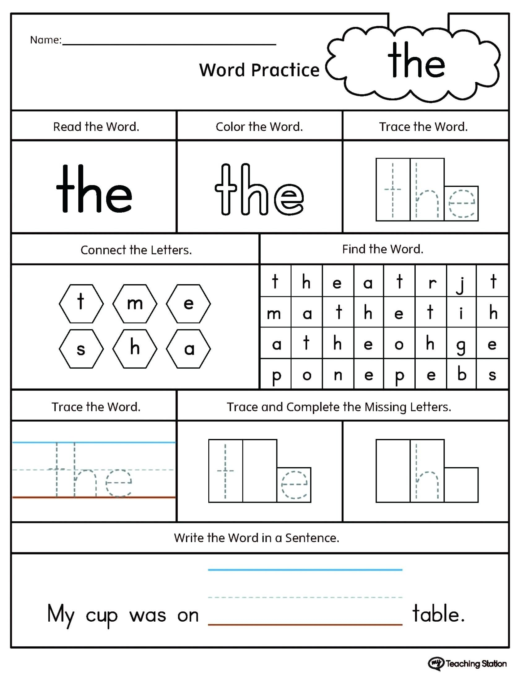 Op Word Family Worksheets Ick Word Family Worksheets Printable