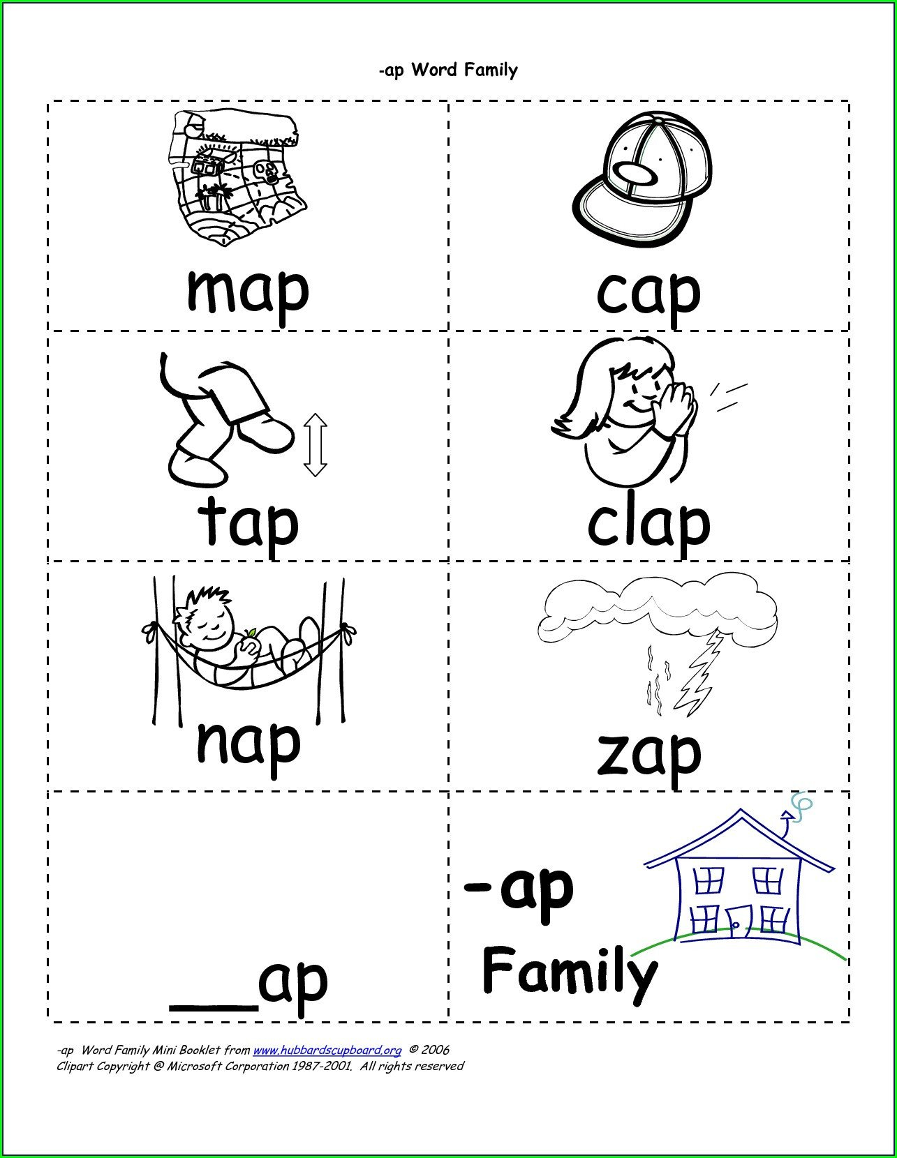 op word family worksheets for kindergarten