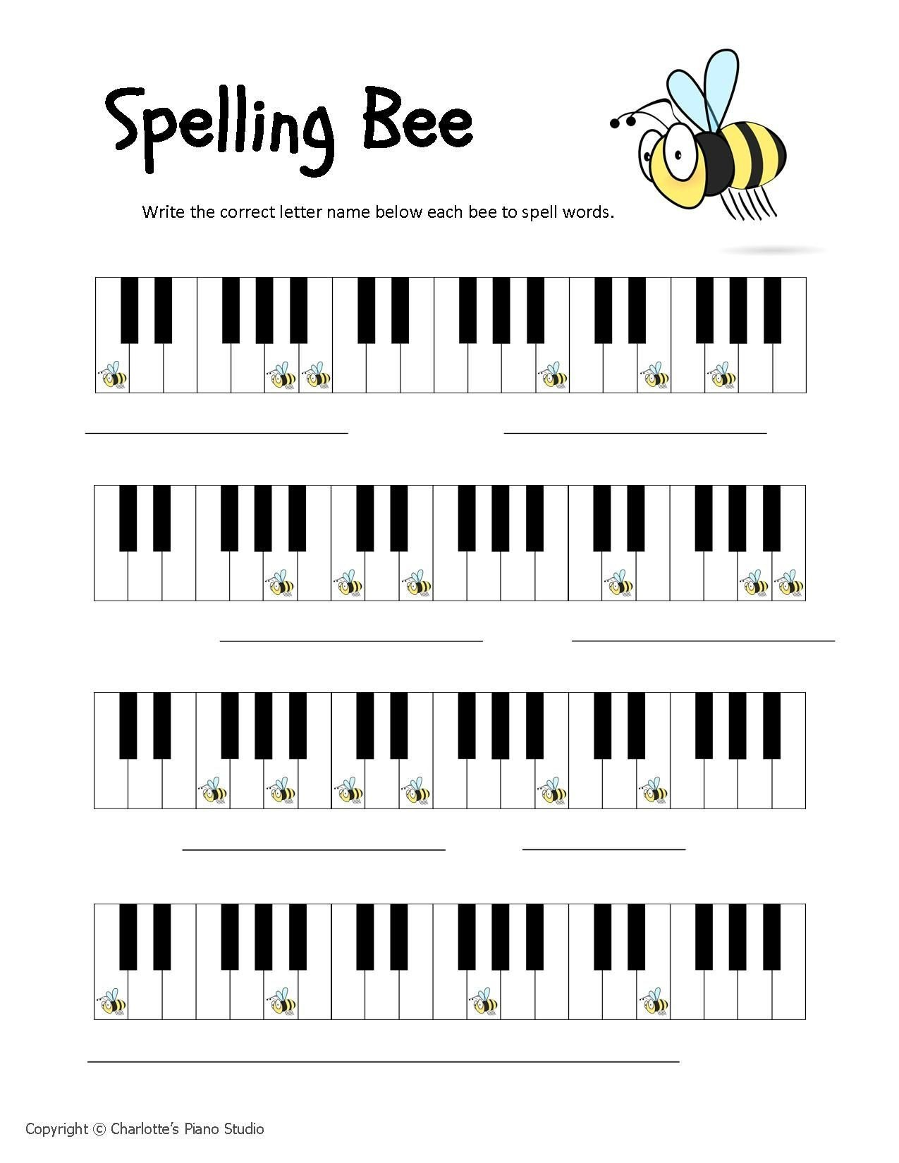 Opus Music Worksheets Answers Spelling Bees