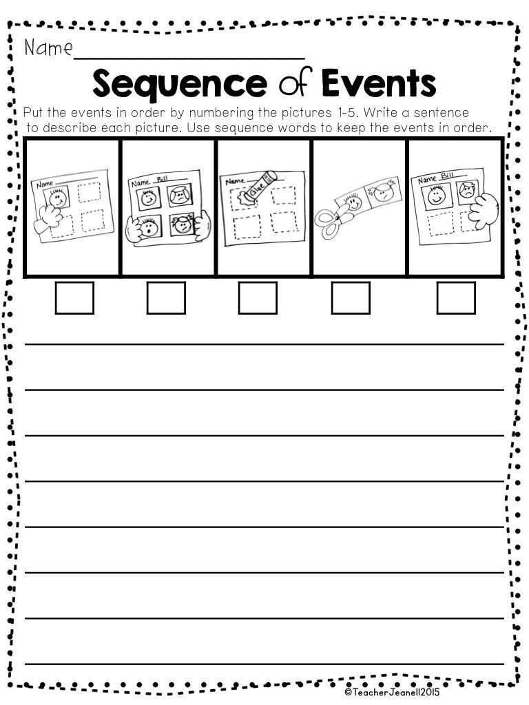 Order Of events Worksheets Sequencing Packet 2