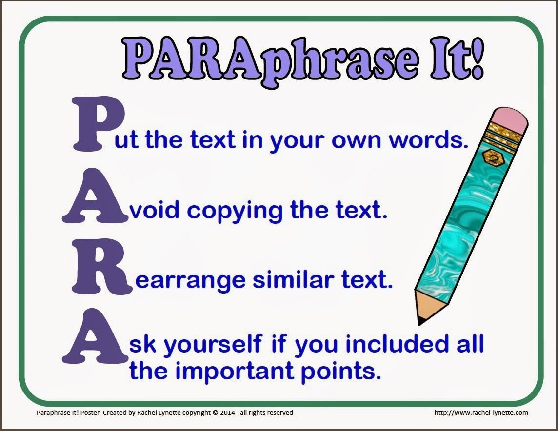 Paraphrasing Worksheets Elementary Teaching Kids to Paraphrase Step by Step