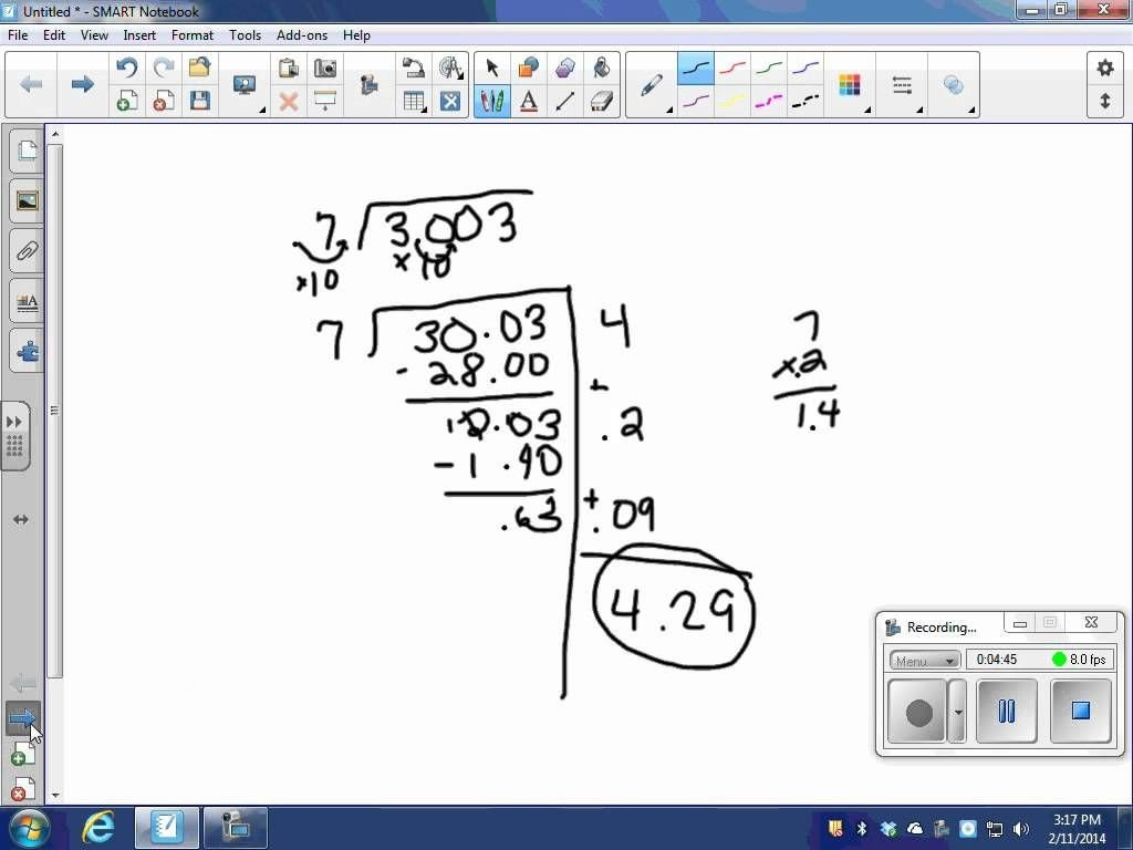 Partial Quotients Worksheet Dividing Decimals Using Partial Quotients