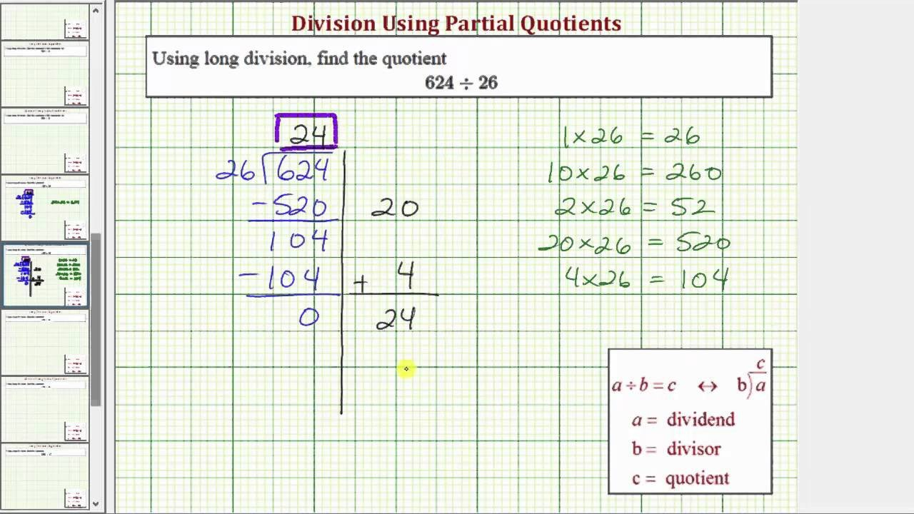 Partial Quotients Worksheet Ex Division Using Partial Quotient 3 Digit Divided by 2 Digit No Remainder