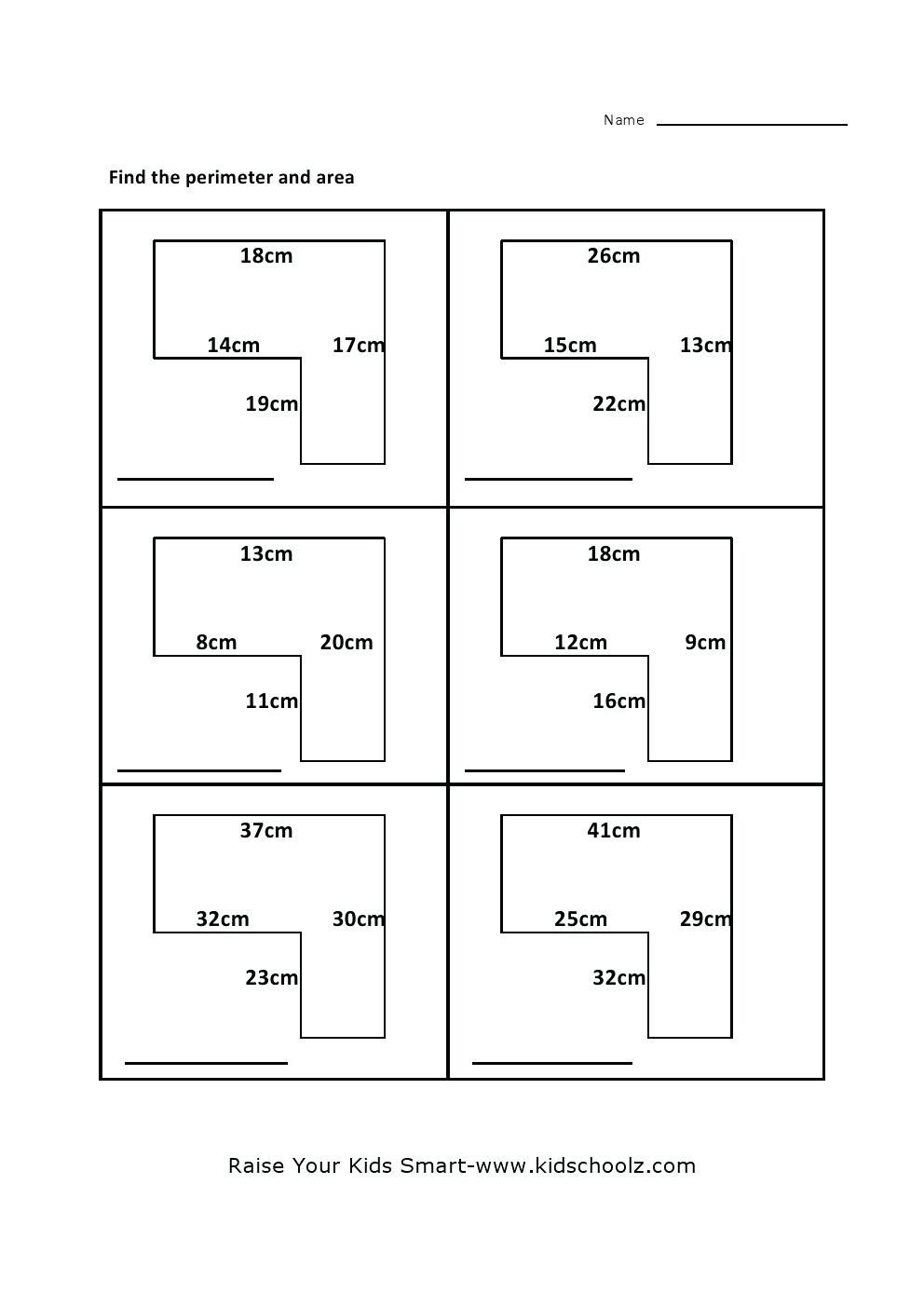 Perimeter Worksheets 3rd Grade Pdf area Of Irregular Shapes Worksheet – Leahaliub