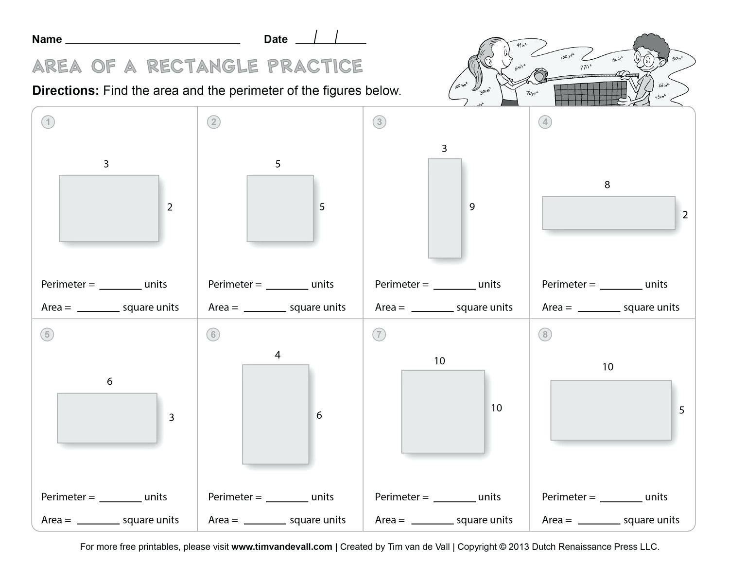 Perimeter Worksheets 3rd Grade Pdf Fractions with area and Perimeter Worksheets