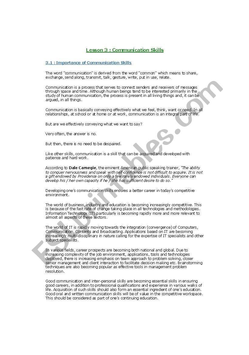 Personal Development Worksheet English Worksheets Personality Development