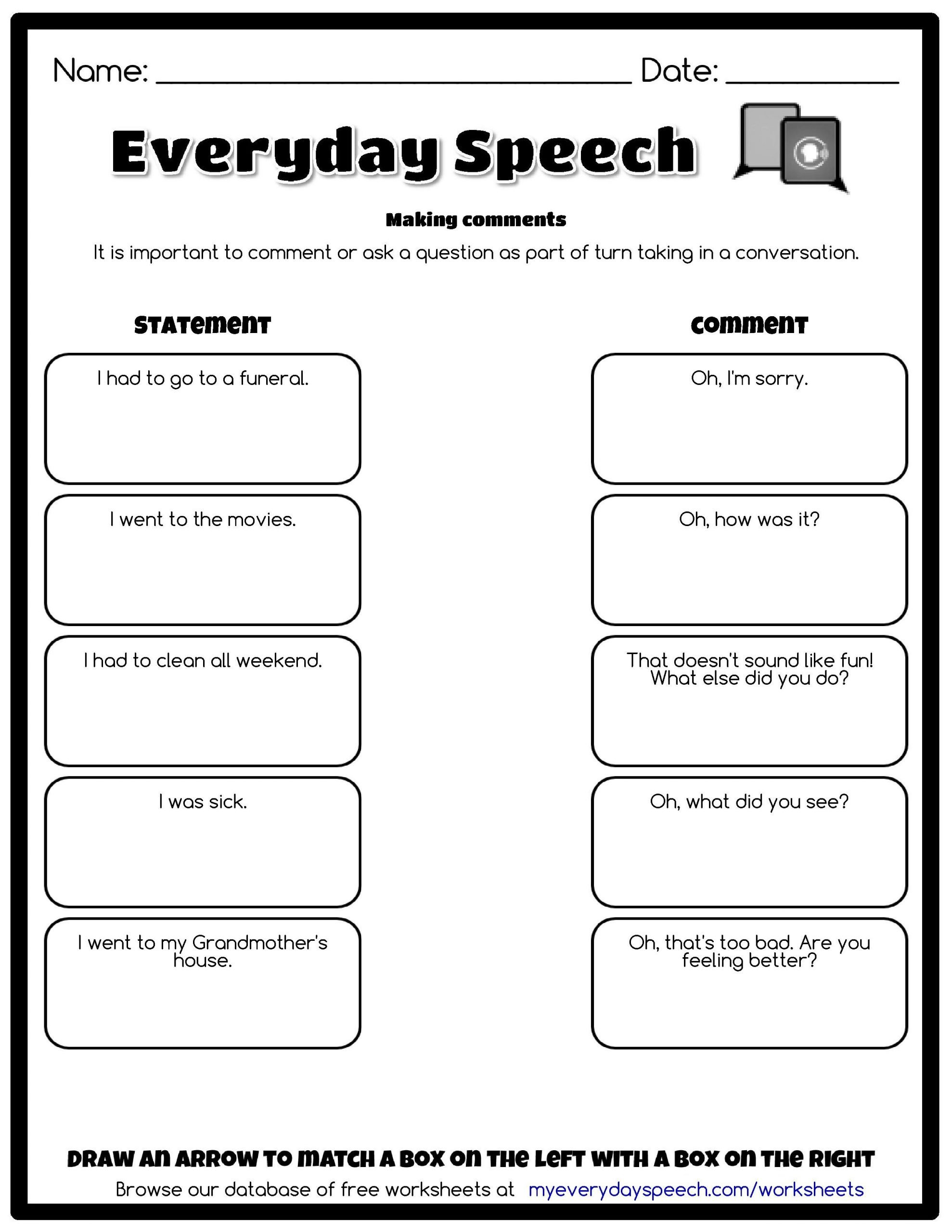 Perspective Taking Worksheets Preview