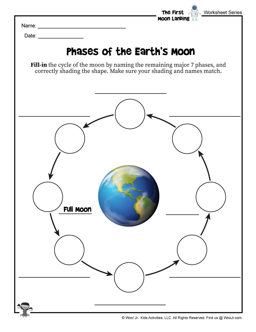 Learn the Moon Phases Fill in the Blank