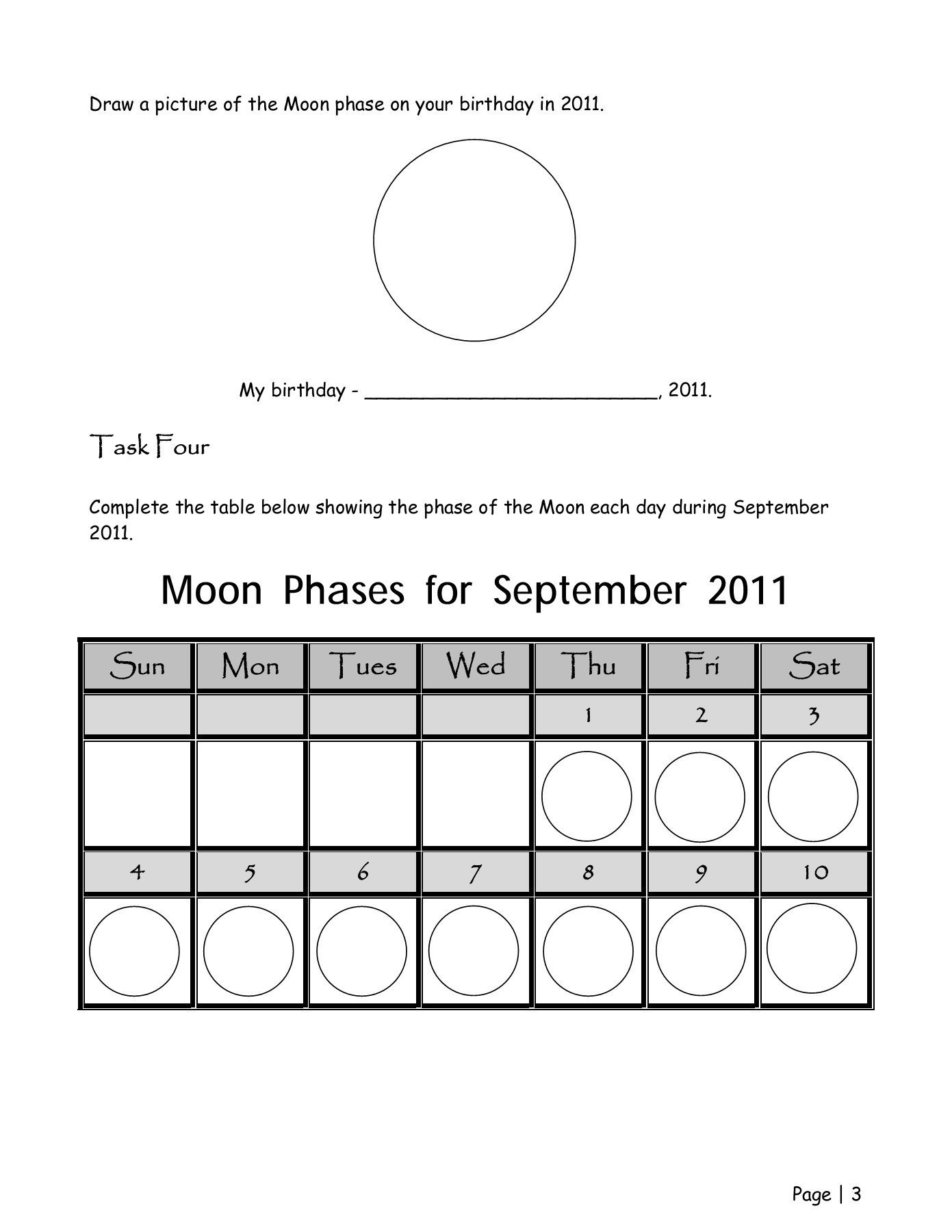 Phases Of the Moon Worksheet Phases Of the Moon Webquest Worksheet Wiley3rdgrade Pages