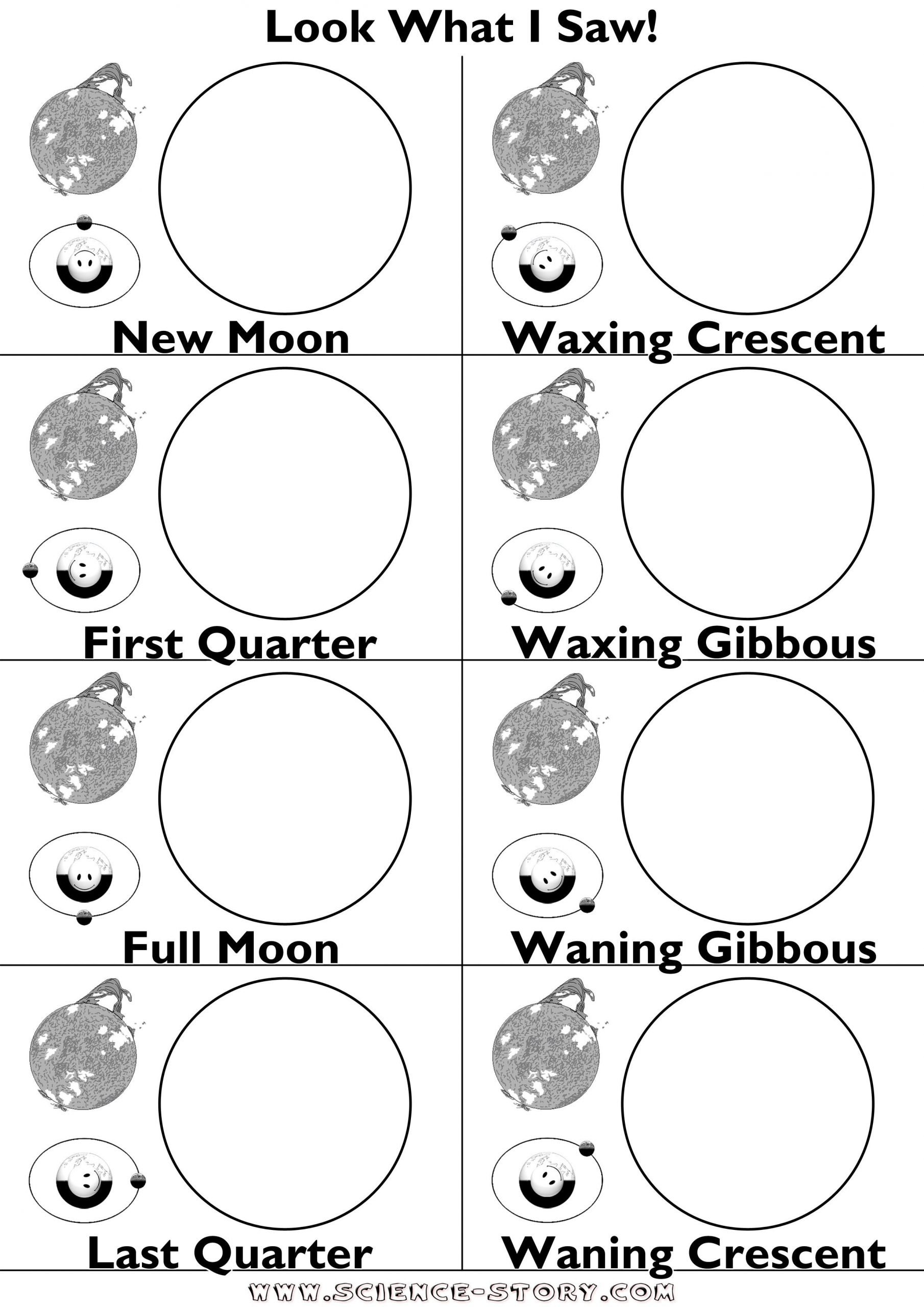 Phases Of the Moon Worksheet Phases the Moon with oreos Worksheet