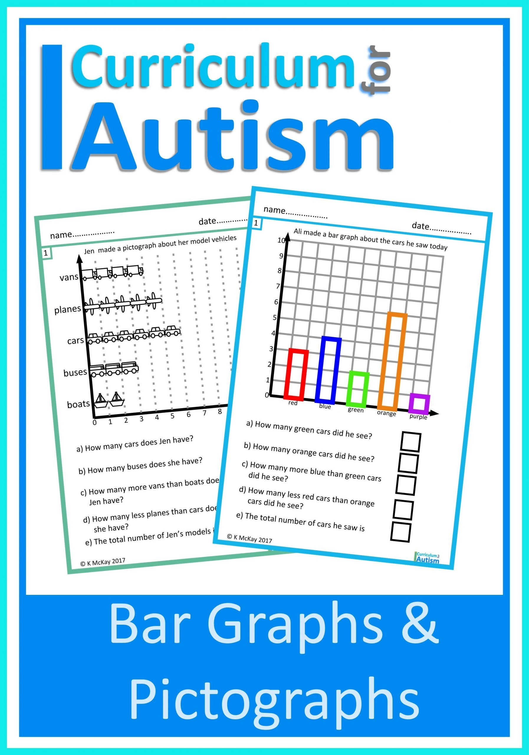 Pictograph Worksheets Pdf Bar Graph & Pictographs Worksheets — Curriculum for Autism