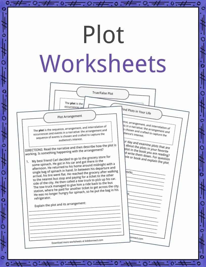 Plot and theme Worksheets Plot Examples Definition and Worksheets