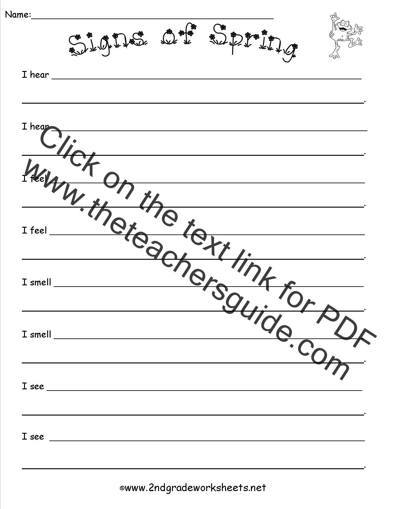 Plot and theme Worksheets Spring theme Worksheets