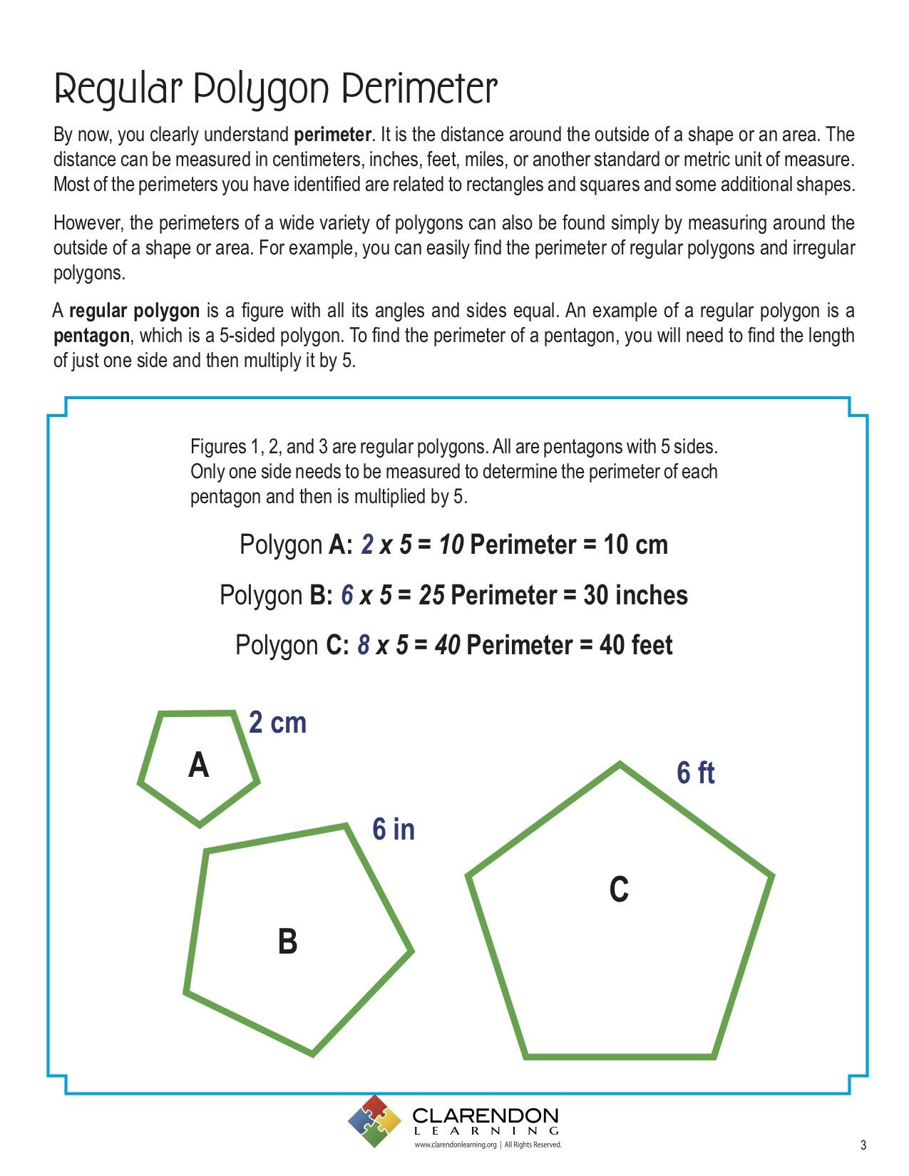 Polygon Worksheets 4th Grade Perimeters Of Polygons Lesson Plan