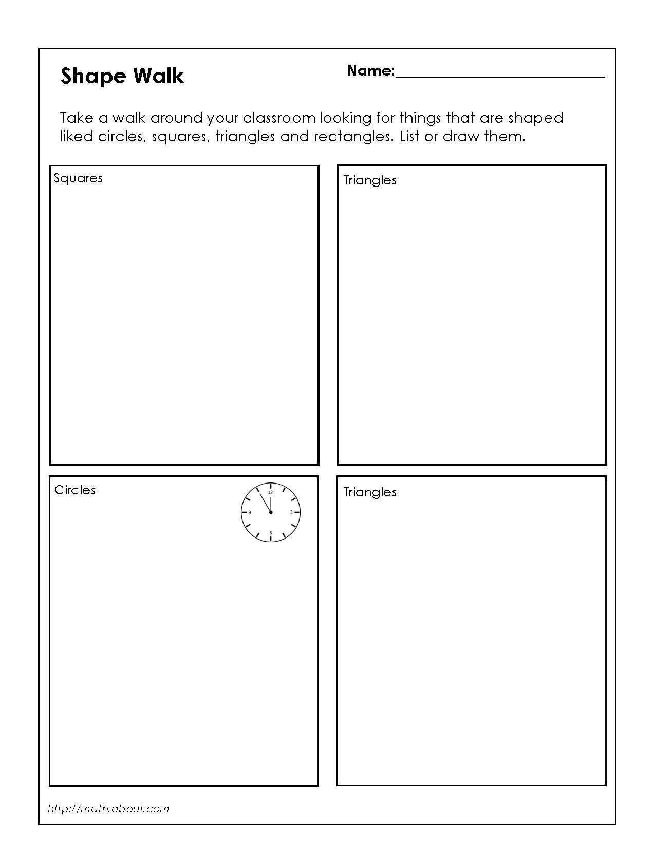 Polygon Worksheets for 2nd Grade 1st Grade Geometry Worksheets for Students