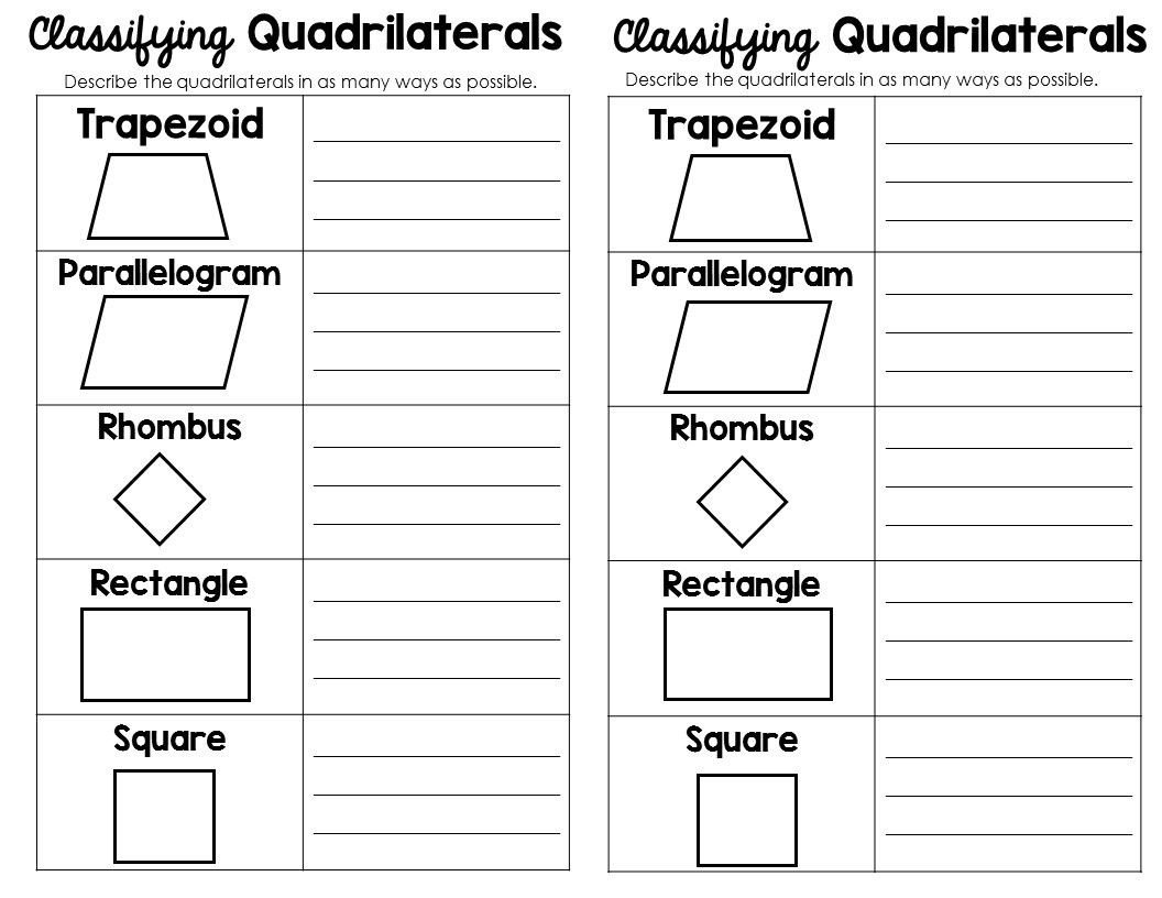 Polygon Worksheets for 2nd Grade Classifying 2d Shapes Polygons Triangles & Quadrilaterals