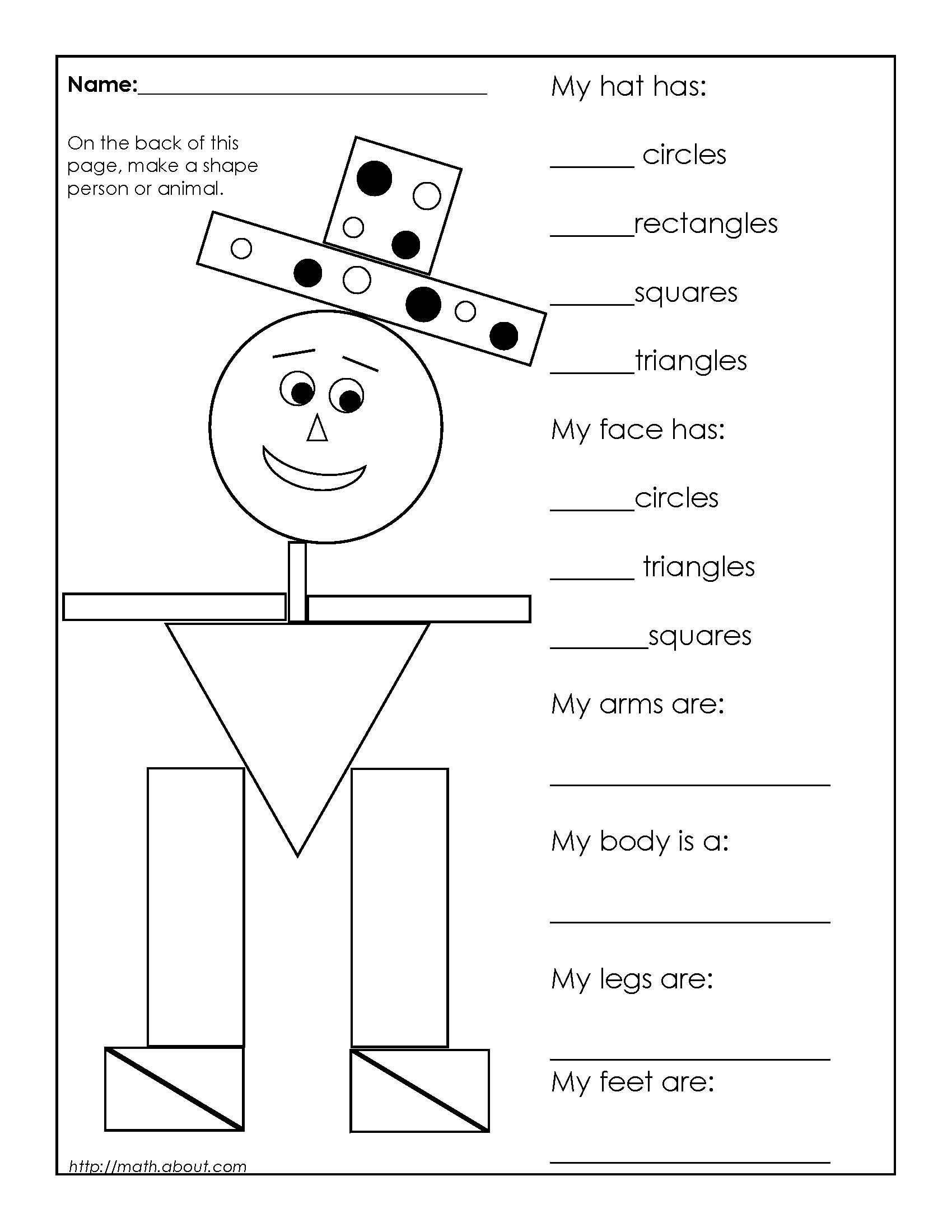 3d shapes worksheets 2nd grade 4