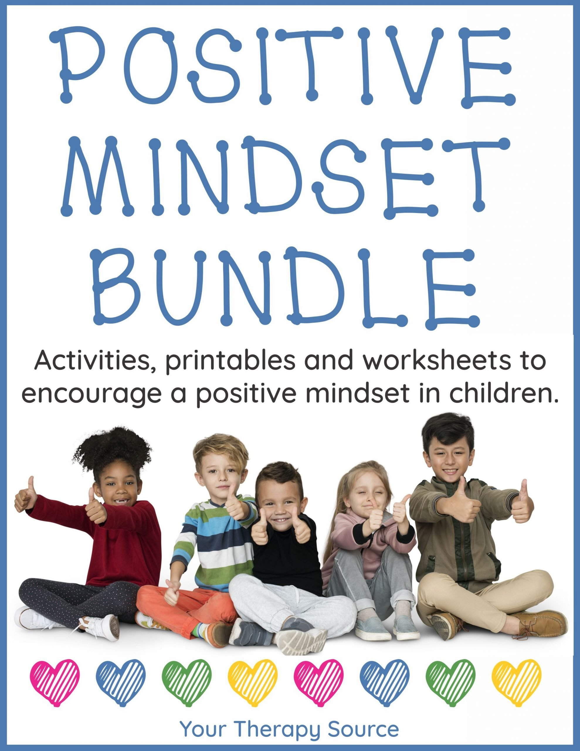 Positive attitude Activities Worksheets Positive Mindset Bundle
