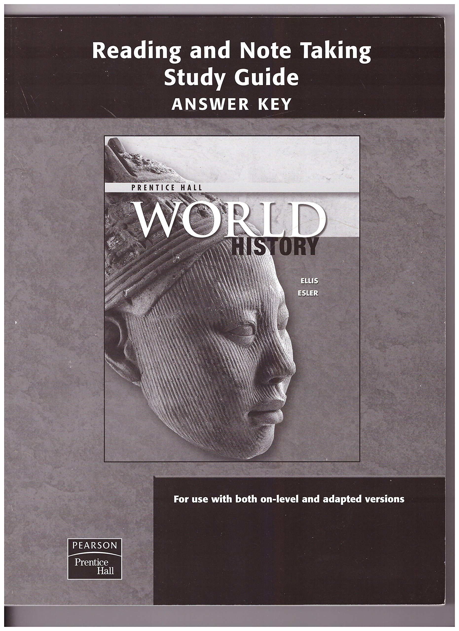 Prentice Hall World History Worksheets Prentice Hall Reading and Note Taking Study Guide Answer
