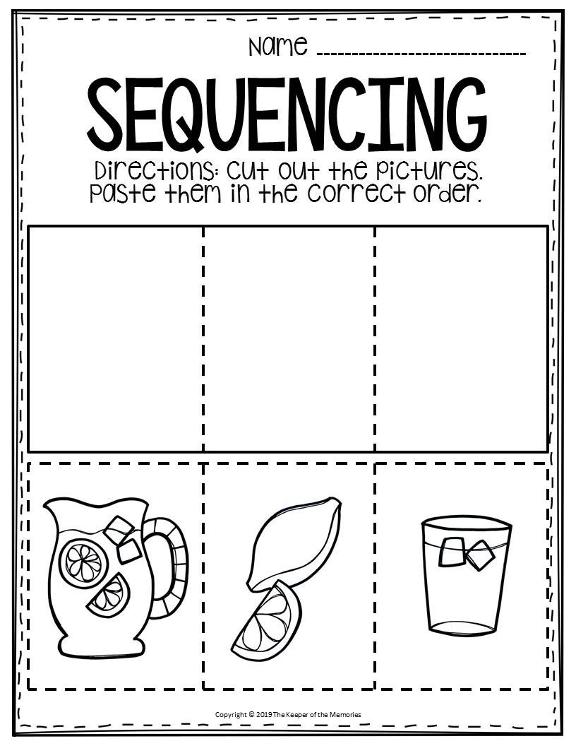 Preschool Sequencing Worksheets Sequencing Preschool Worksheets Lemonade the Keeper Of the