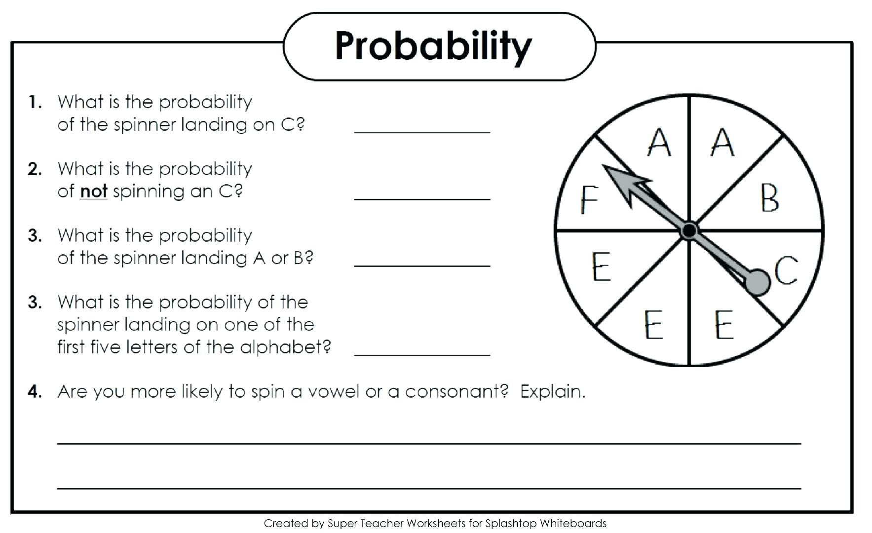 Probability Worksheets 7th Grade Pdf Probability Practice Problems – Leahaliub