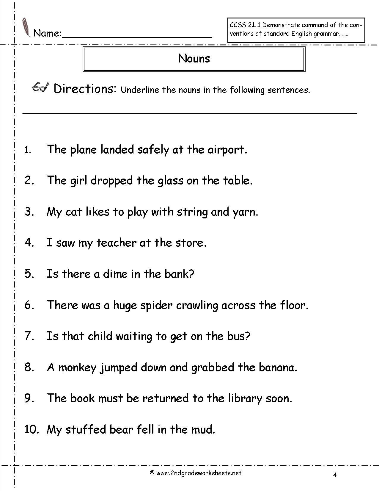 Pronoun Worksheets 2nd Grade Pronoun Worksheets 2nd