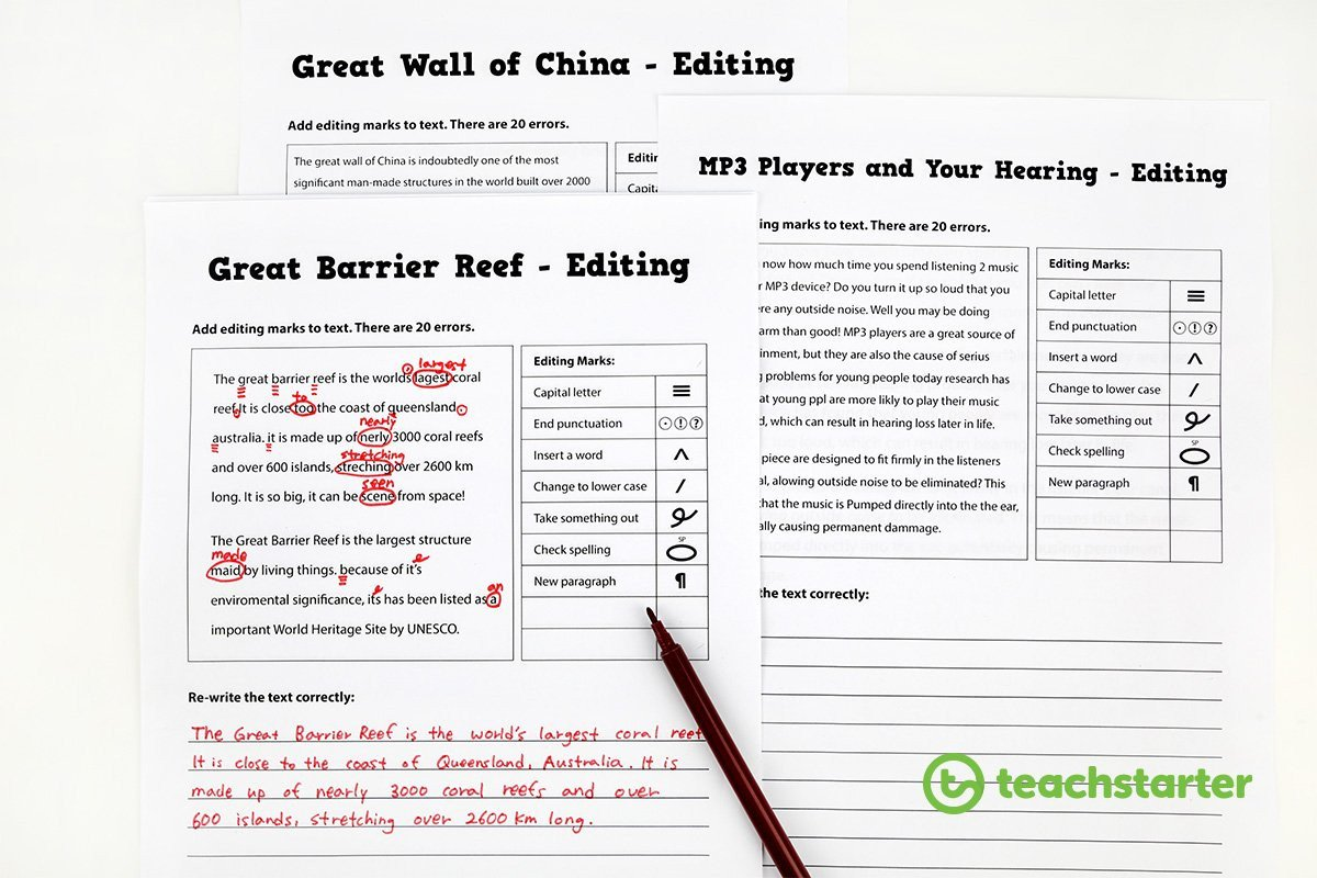 Proofreading Worksheets Middle School 30 Resources and Tips to Help Your Students Love Editing