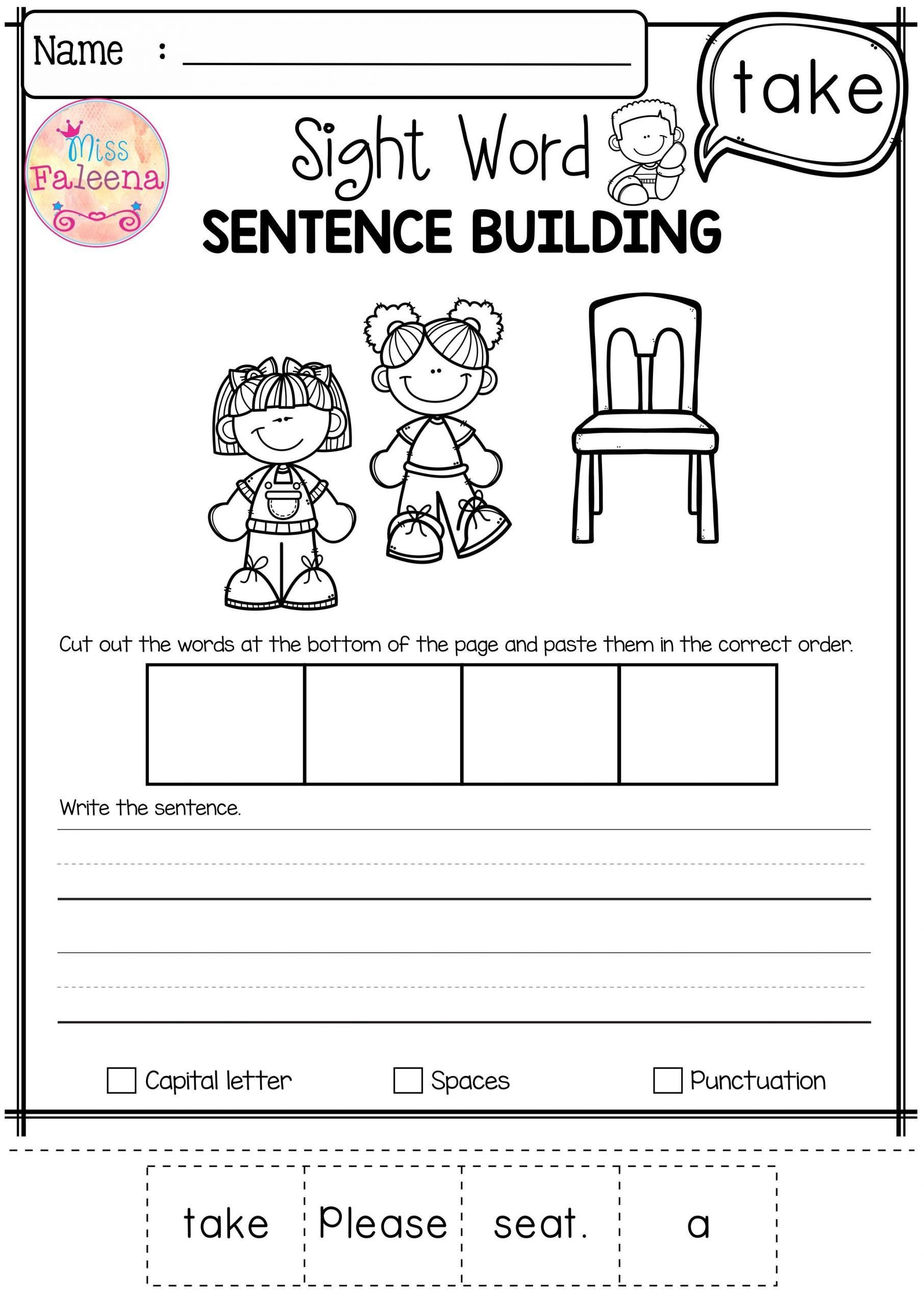 Punctuation Worksheets for Kindergarten Math Worksheet Writing Activities for Kindergarten