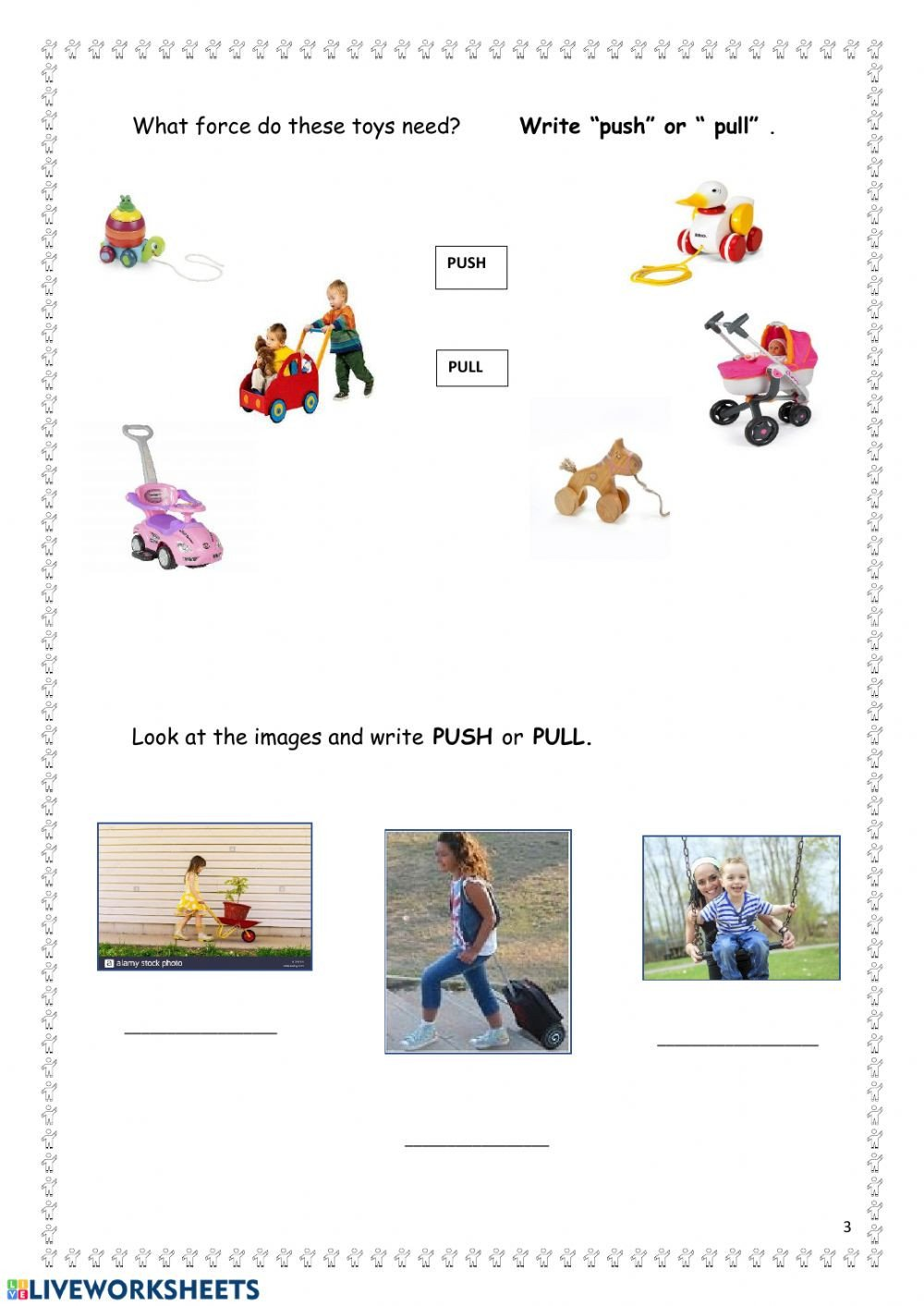 Push and Pull Worksheets Push or Pull Interactive Worksheet