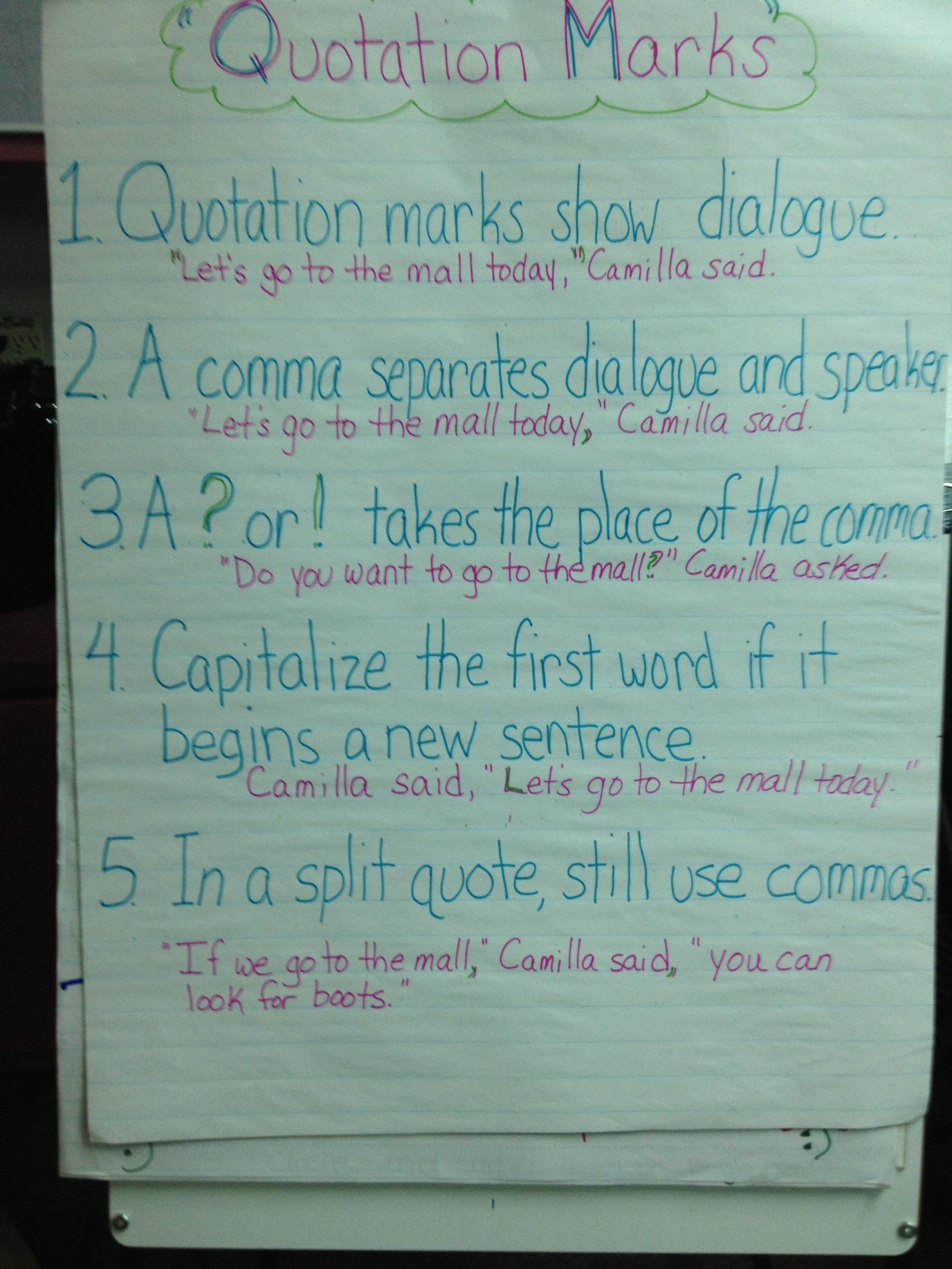 Quotation Worksheets 4th Grade Pin by Billie Walker On Writer S Workshop for 4th Grade
