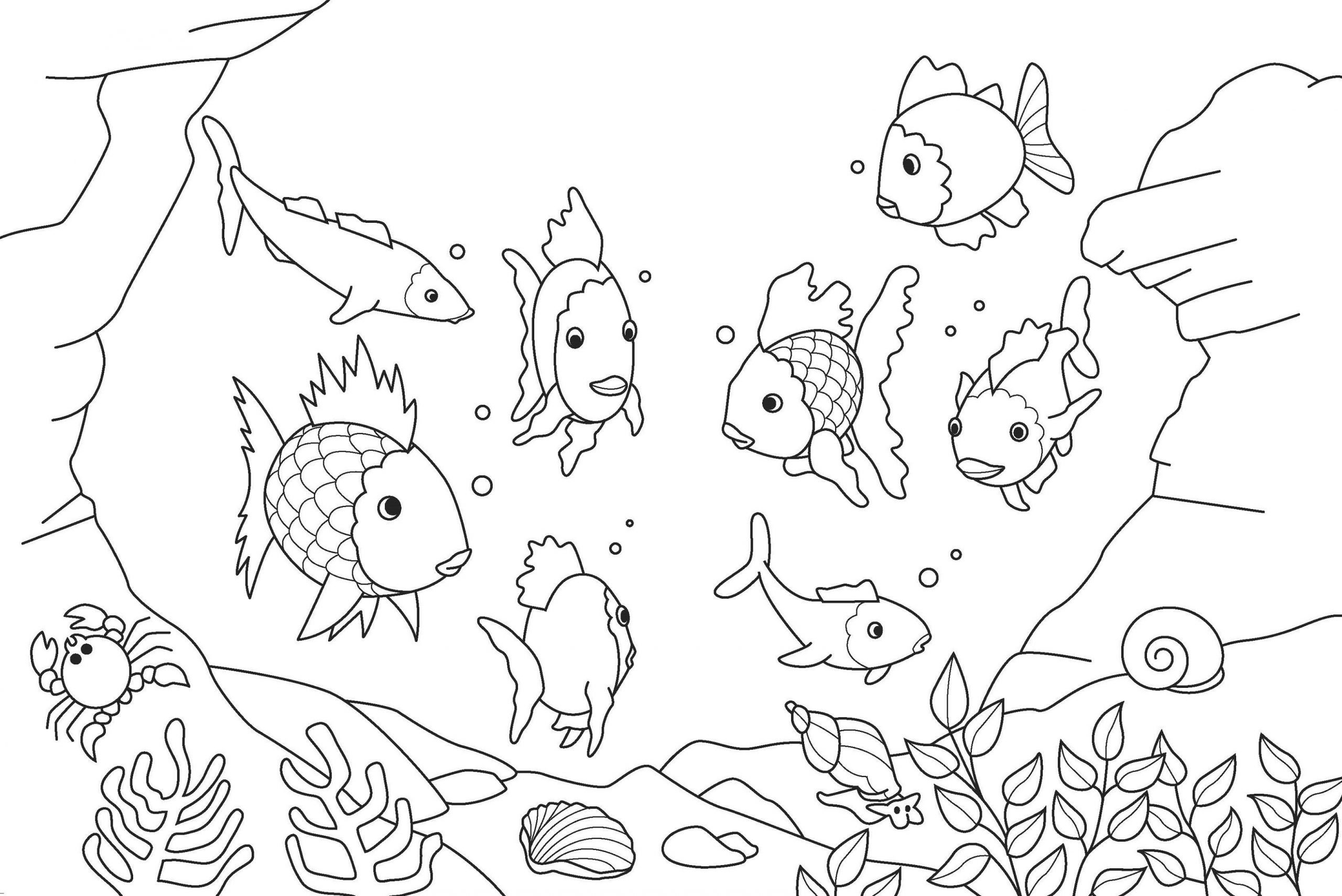Rainbow Fish Printable Worksheets Fish Coloring Pages for Kids K5 Worksheets