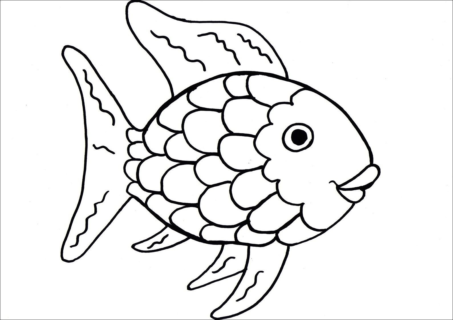 Rainbow Fish Worksheets Fish Coloring Pages – Coloringcks