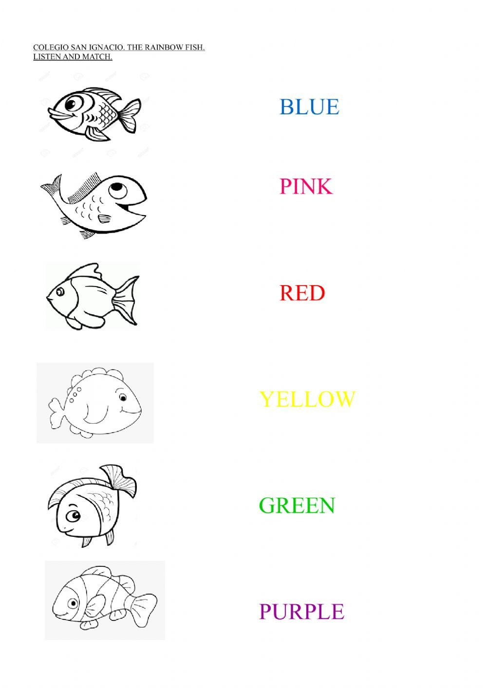 Rainbow Fish Worksheets the Rainbow Fish Interactive Worksheet