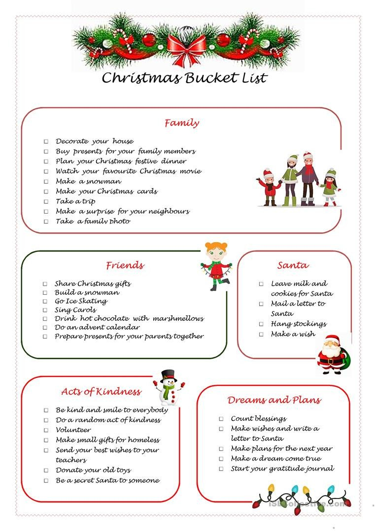 Random Acts Of Kindness Worksheets Christmas English Esl Worksheets for Distance Learning and