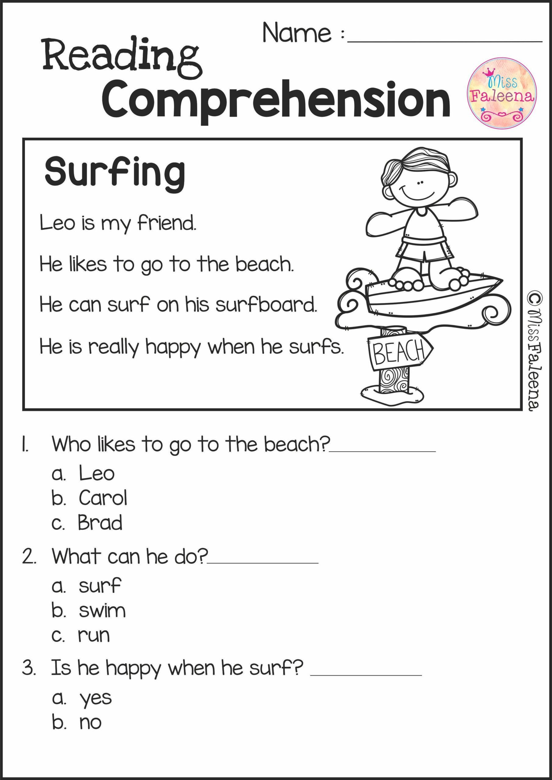 Reading Comprehension Worksheets 7th Grade Reading Prehension Set 2nd Grade Worksheets Get to Know