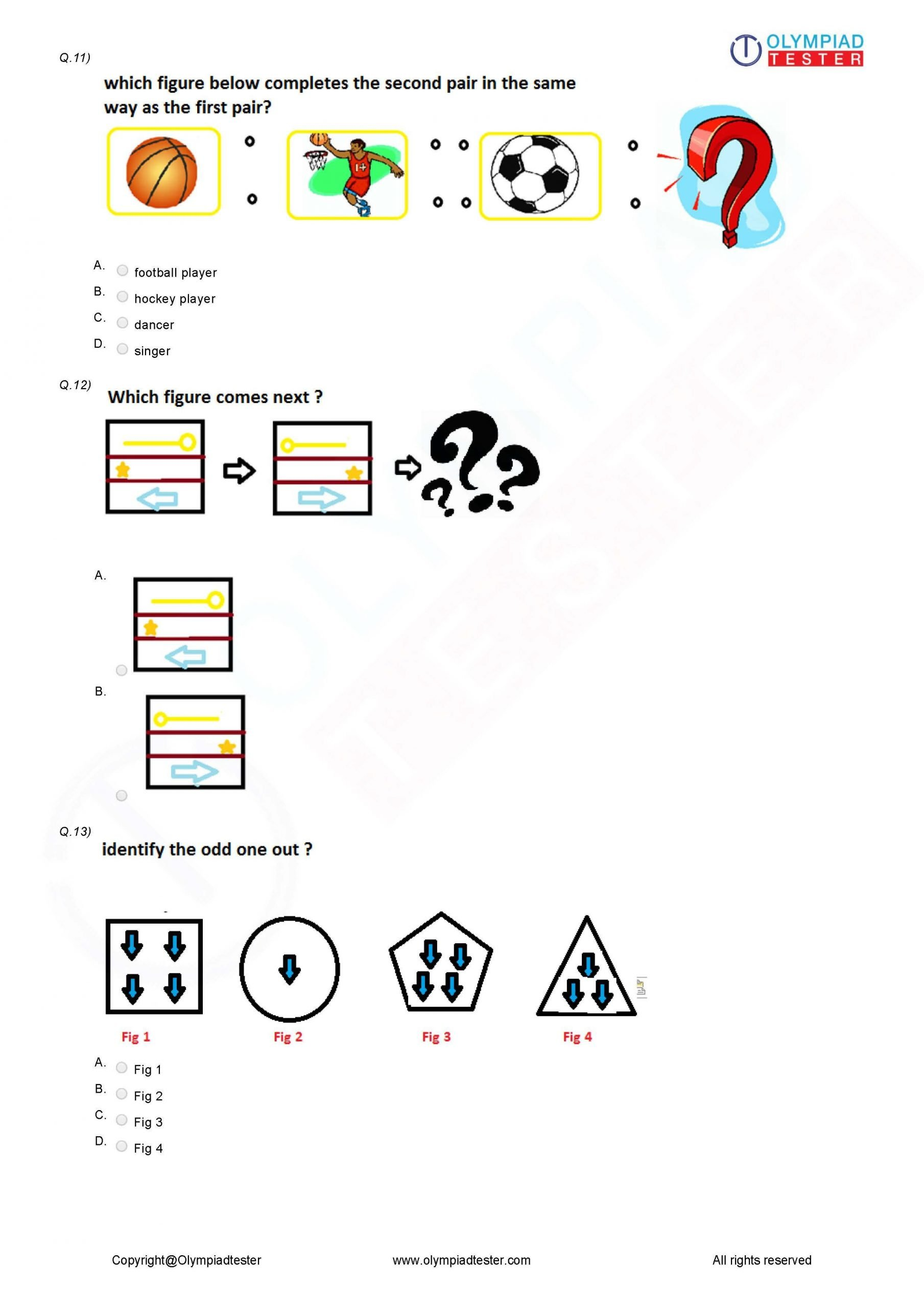 Reasoning Worksheets for Grade 1 Class 3 Logical Reasoning Worksheet 04
