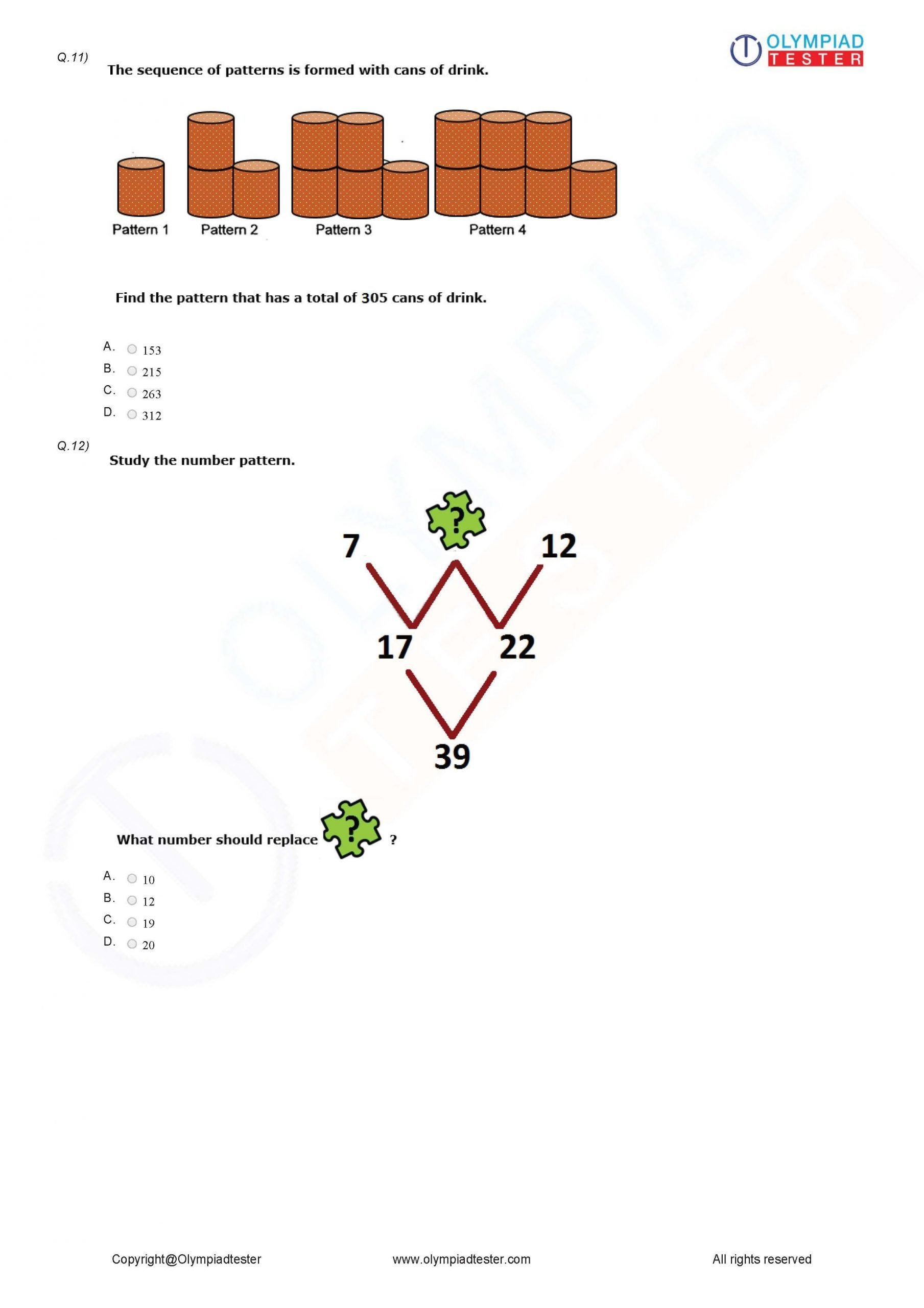 Reasoning Worksheets for Grade 1 Class 5 Logical Reasoning Worksheet 04