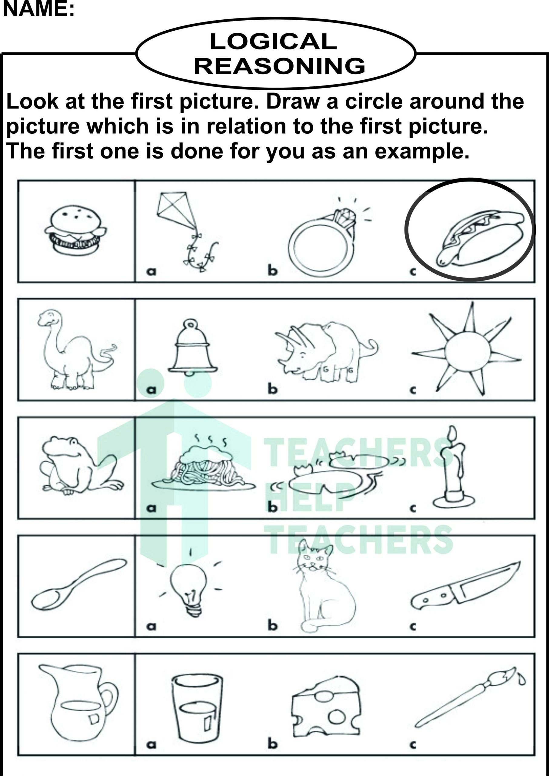 Reasoning Worksheets for Grade 1 Olympiad Practice Worksheets Logic Set 2 Grade 1