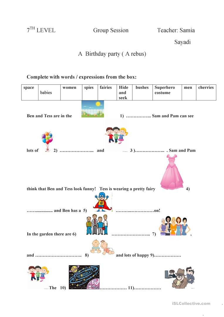Rebus Story Worksheets English Esl Rebus Worksheets Most Ed 15 Results