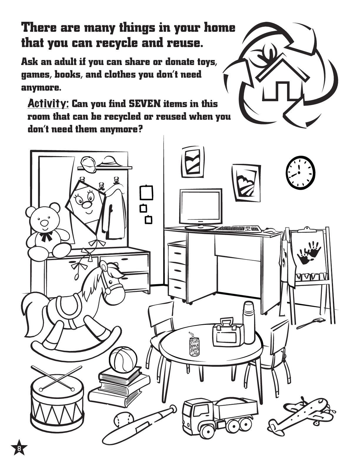 Recycle Worksheets for Kindergarten Activity Page to Teach Kids About Recycling Recycling