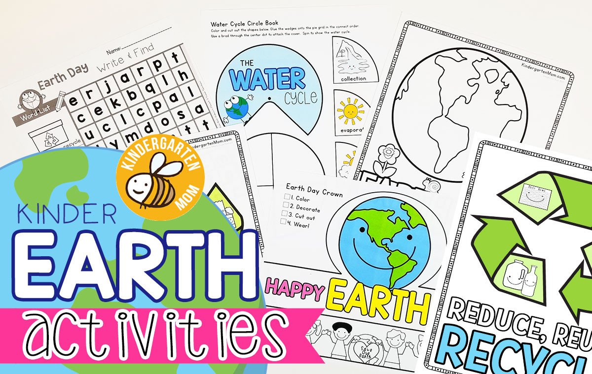 Recycle Worksheets for Kindergarten Earth Day Printables Kindergarten Mom