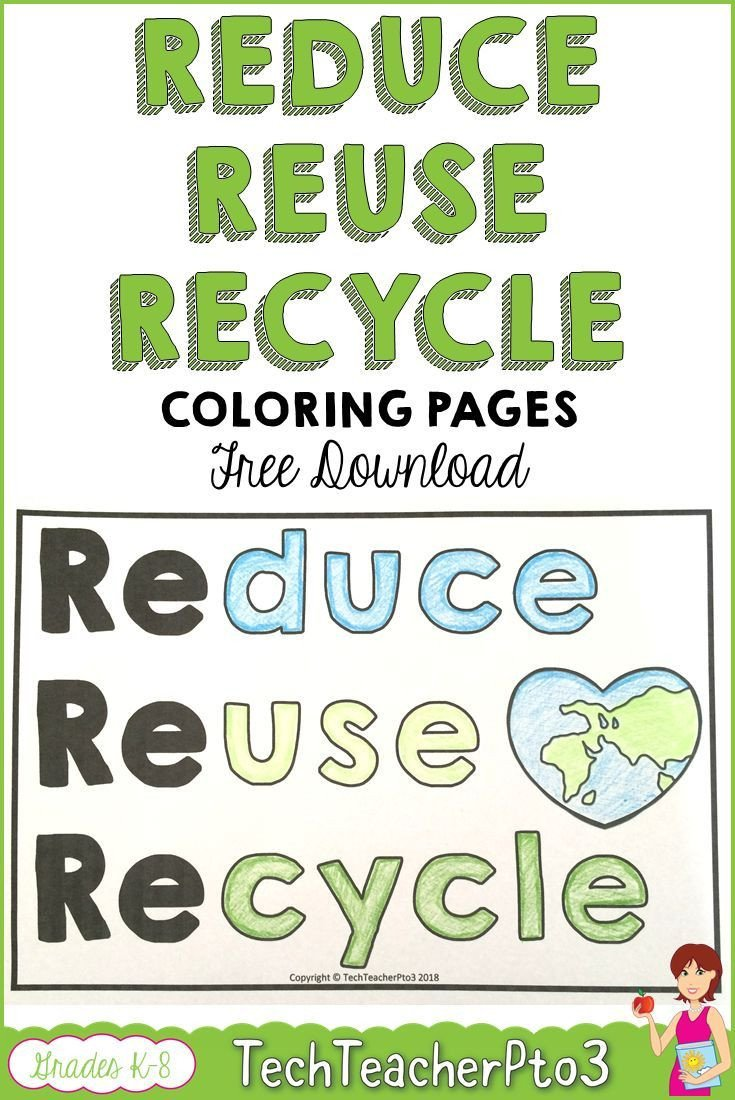 Recycle Worksheets for Kindergarten Reduce Reuse Recycle Coloring Pages Free Download