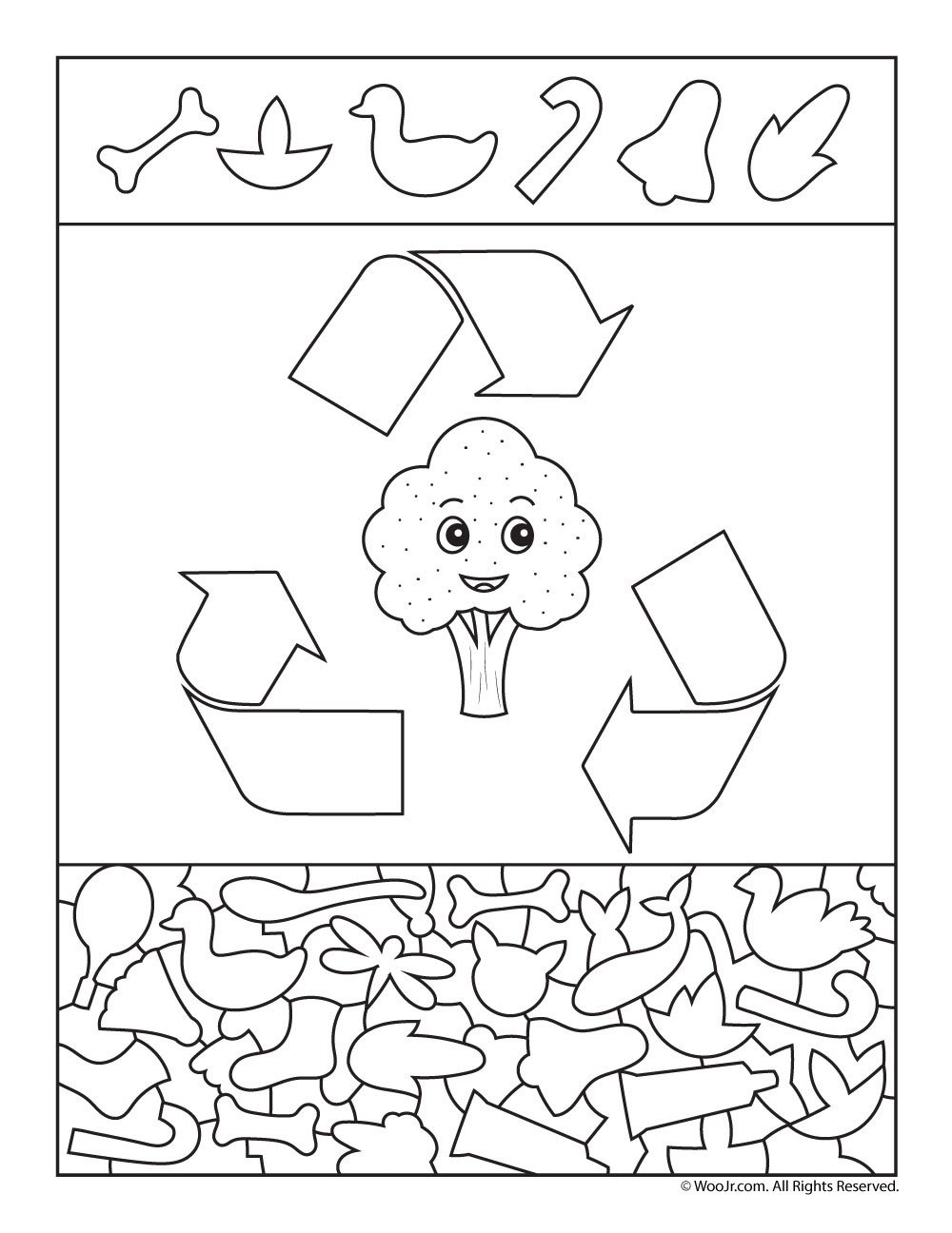 Recycle Worksheets for Preschoolers Please Recycle Preschool Activity Page