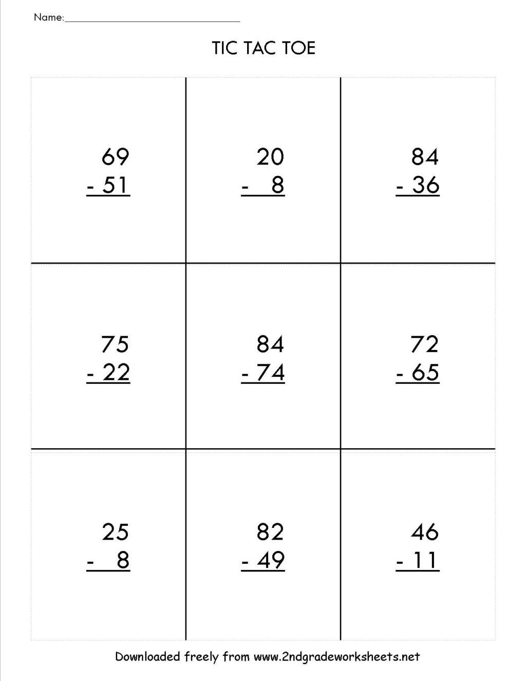 worksheet free subtraction worksheets for 3rde 2nd without regrouping printable addition and 1024x1325