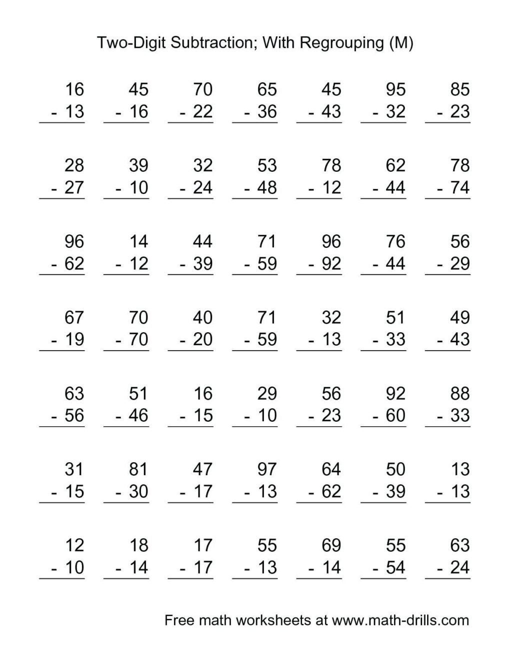 3rd grade subtraction worksheets photo inspirations worksheet third with borrowing 1024x1325