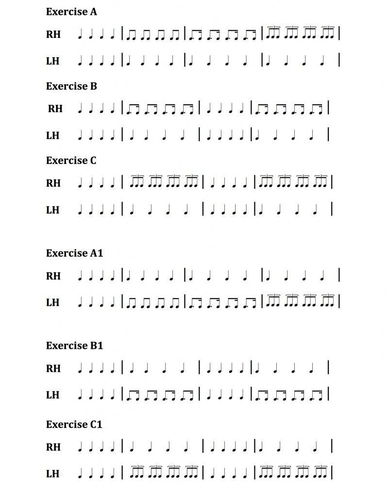 Rhythm Counting Worksheet Pdf Rhythm Exercises for Download