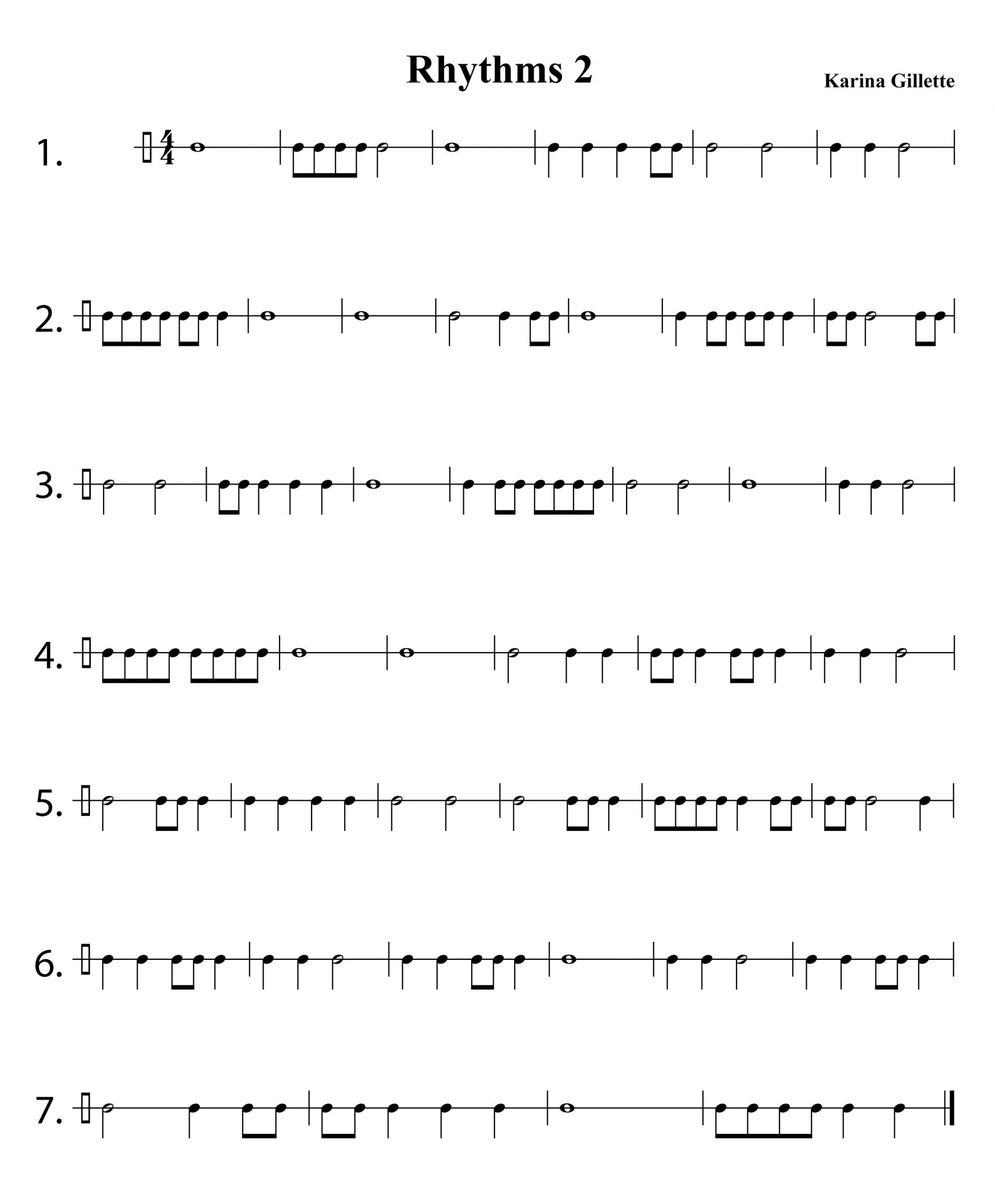 Rhythm Worksheets for Middle School Music theory Worksheets for Beginners
