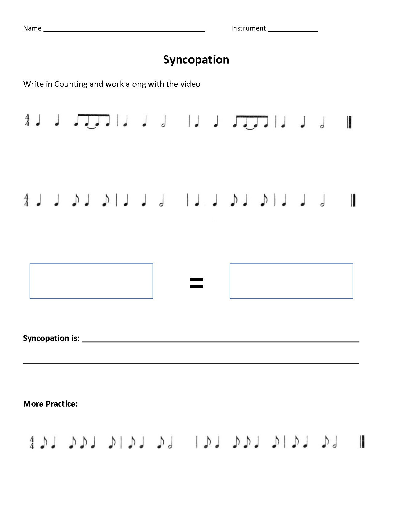 Rhythm Worksheets for Middle School Rhythm Supplements for the Flipped Classroom