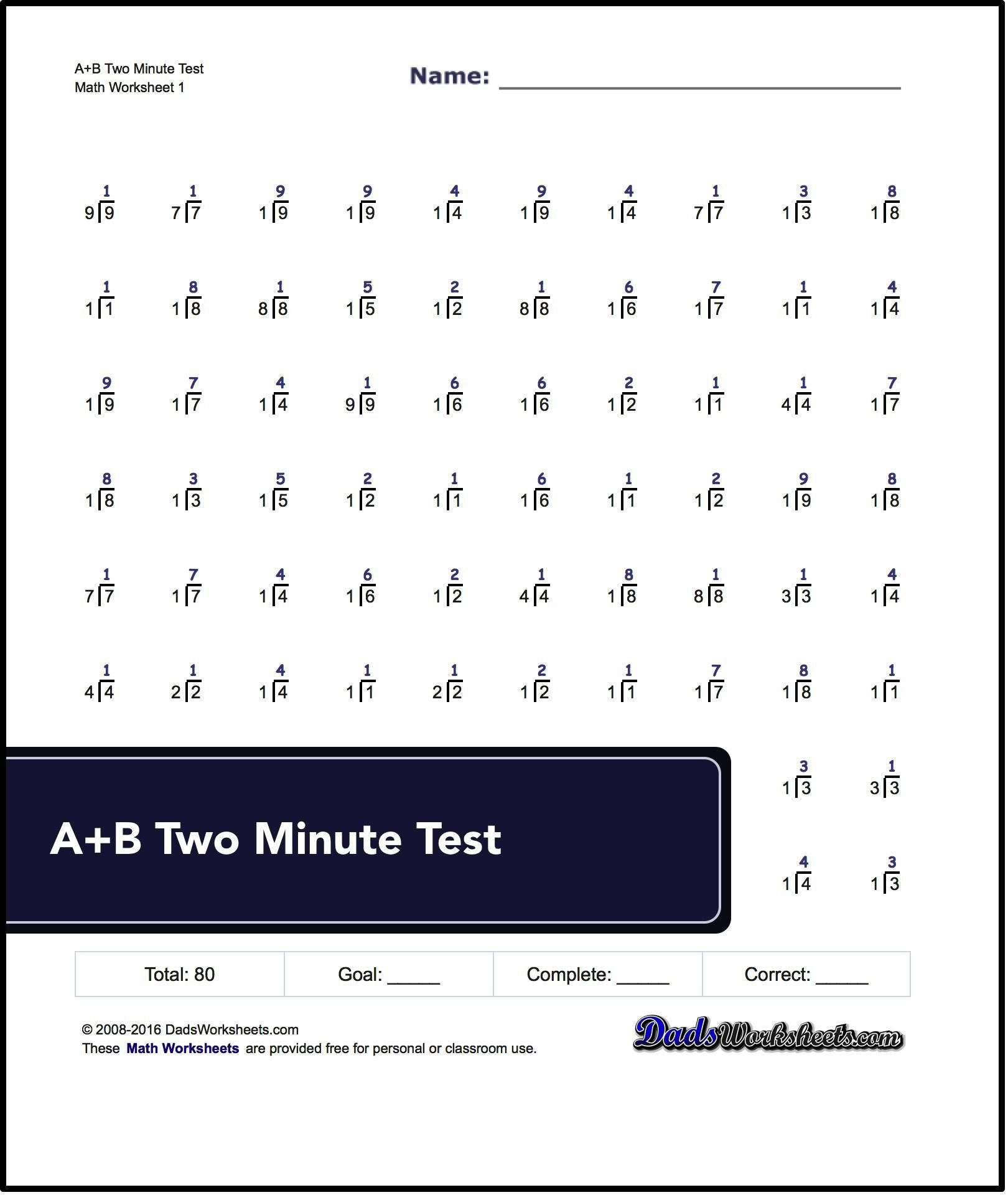 Rocket Math Division Worksheets N Rocket Math Worksheets