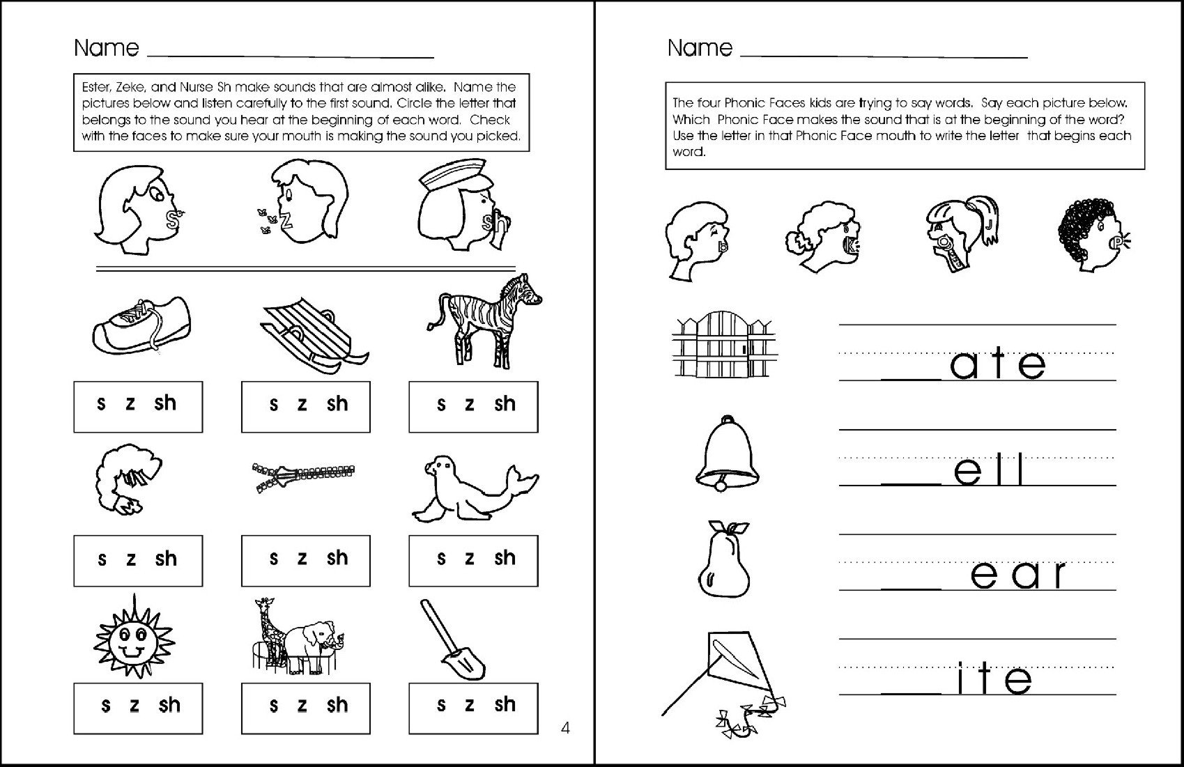 S and Z sounds Worksheets Letter sound Phonemic Awareness Worksheets